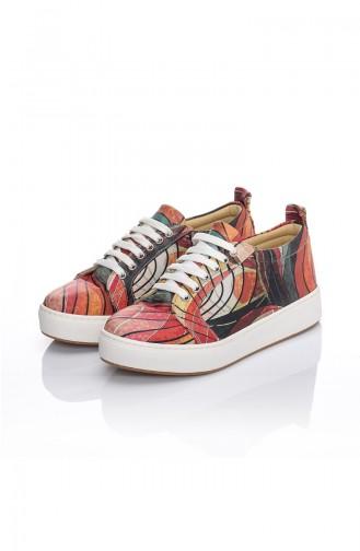 Chaussures Pour Femme 7019-Becky Rouge Motifs 7019-Becky