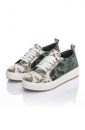 Chaussures Pour Femme 7019-Bennie Vert Motifs 7019-Bennie