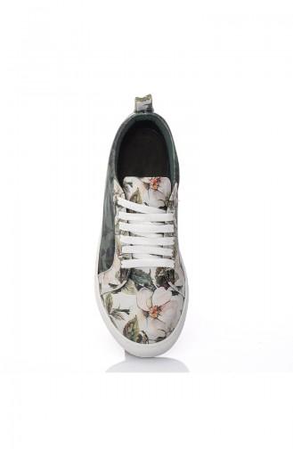 Women´s Casual Shoes 7019-Bennie Green Pattern 7019-Bennie