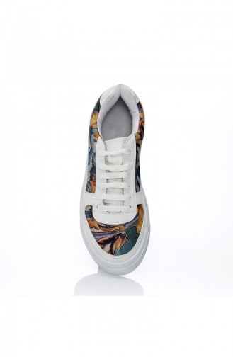 Chaussure Sport Pour Femme 7020-Art Pourpre Motifs 7020-Art