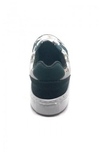 Chaussure Sport Pour Femme 7020-Bennie Vert Motifs 7020-Bennie