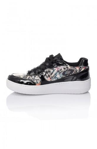 Kadın Spor Ayakkabı 7026-Boju Siyah Desen 7026-Boju