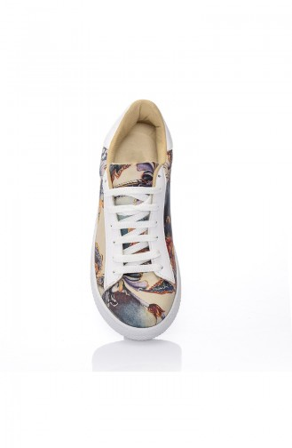 Chaussure Sport Pour Femme 7028-Art Pourpre Motifs 7028-Art