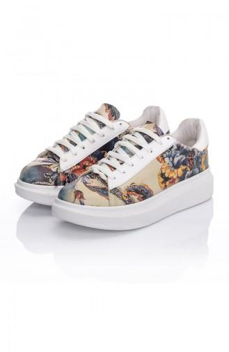 Chaussure Sport Pour Femme 7029-Art Pourpre Motifs 7029-Art