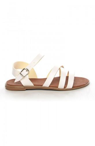 White Summer Sandals 2043-1
