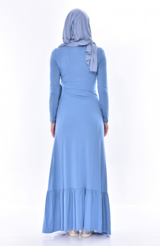 Robe Détail Lacets 1423-04 Bleu 1423-04