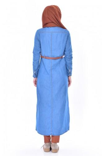 Tunique Jean a Boutons 4008-01 Bleu 4008-01