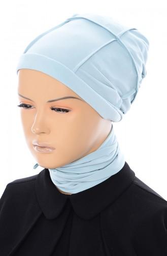 Kariertes Bonnet 20001-07 Minzengrün 002-07