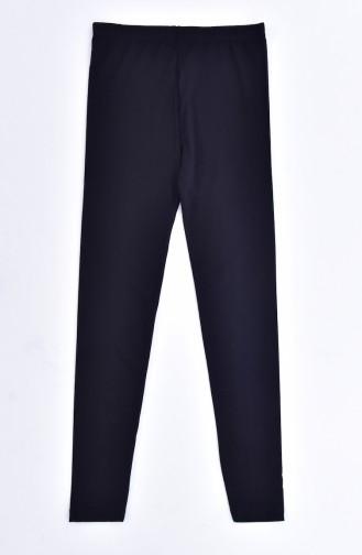 Printed Tights Pajamas Suit  4147-01 Light Beige Black 4147-01
