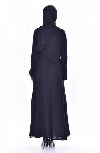 Kleid mit Abaya 1817033-205 Schwarz 1817033-205