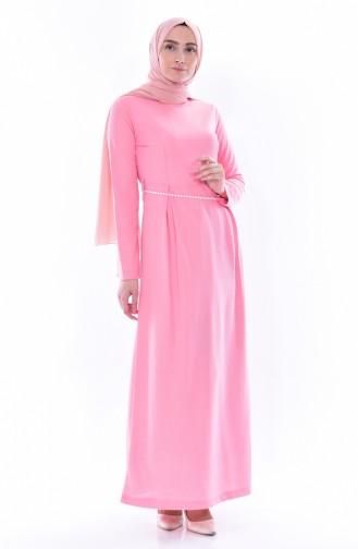 Belt Dress 3840-06 Powder Pink 3840-06