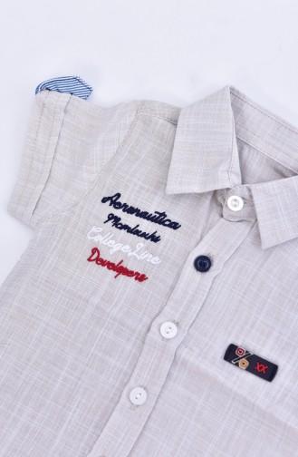 Bebek Gömleği 1804-02 Krem