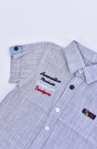 Kids Shirts 1805-01 Navy Blue 1805-01