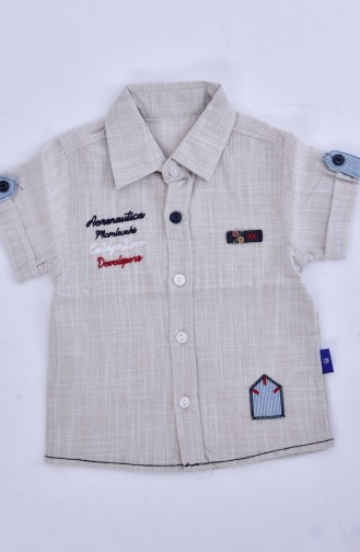 Kids Shirts 1805-02 Cream 1805-02