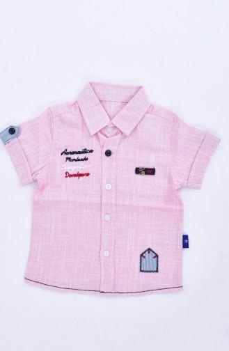 Çocuk Gömlek 1805-03 Pembe