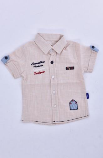 Çocuk Gömlek 1805-04 Bej