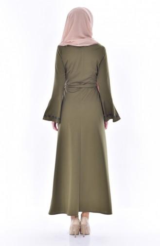 Robe Bordée 9240-05 Khaki 9240-05