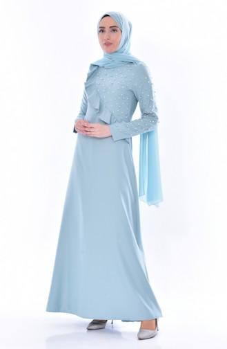 Perlen Kleid mit Falber 0598-02 Minzengrün 0598-02