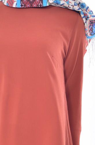 Tunik Pantolon İkili Takım 18831-07 Taba 18831-07