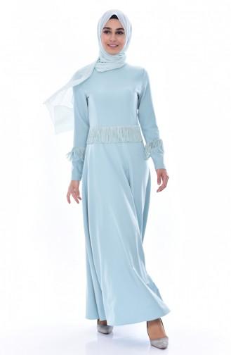 Robe a Franges 1087-01 Vert Noisette 1087-01