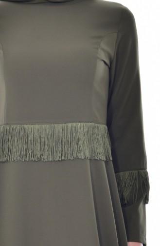 Tasseled Dress 1087-05 Khaki 1087-05