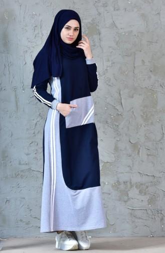 BWEST Pocket Sports Dress 8166-01 Navy Blue 8166-01