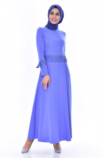 Robe a Franges 1087-02 Bleu 1087-02