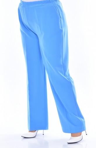 Pantalon élastique avec Poches Grande Taille 3103-06 Bleu 3103-06