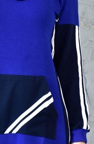 Robe Sport avec Poches 8166-04 Bleu Roi 8166-04