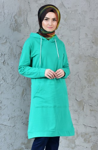 Hoodie Tracksuit Tunic 18079-05 Green 18079-05