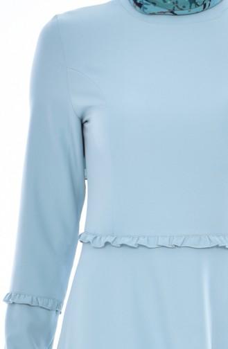 Robe Plissée 1086-01 Vert Noisette 1086-01