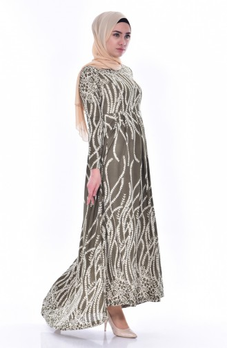فستان كاكي 6052-01