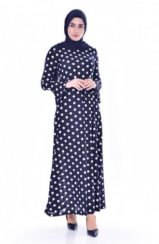 Robe Hijab Bleu Marine 0258-02