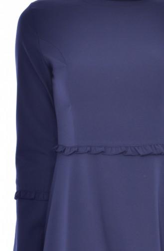 Robe Plissée 1086-06 Bleu Marine 1086-06