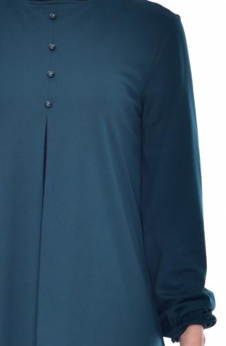 Kleid mit Knöpfen 8034-04 Smaragdgrün 8034-04