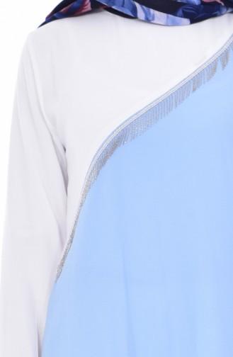 Tunique Asymétrique 0802-01 Bleu 0802-01