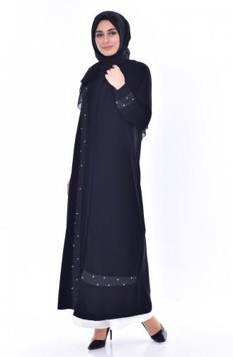 Black Abaya 35803-01