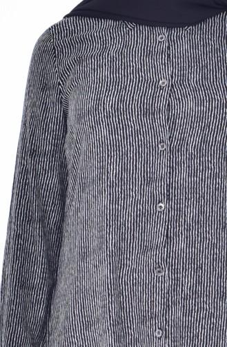 وايت بيرد تونيك فيسكوز بتصميم مُطبع 6321-02 لون اسود 6321-02
