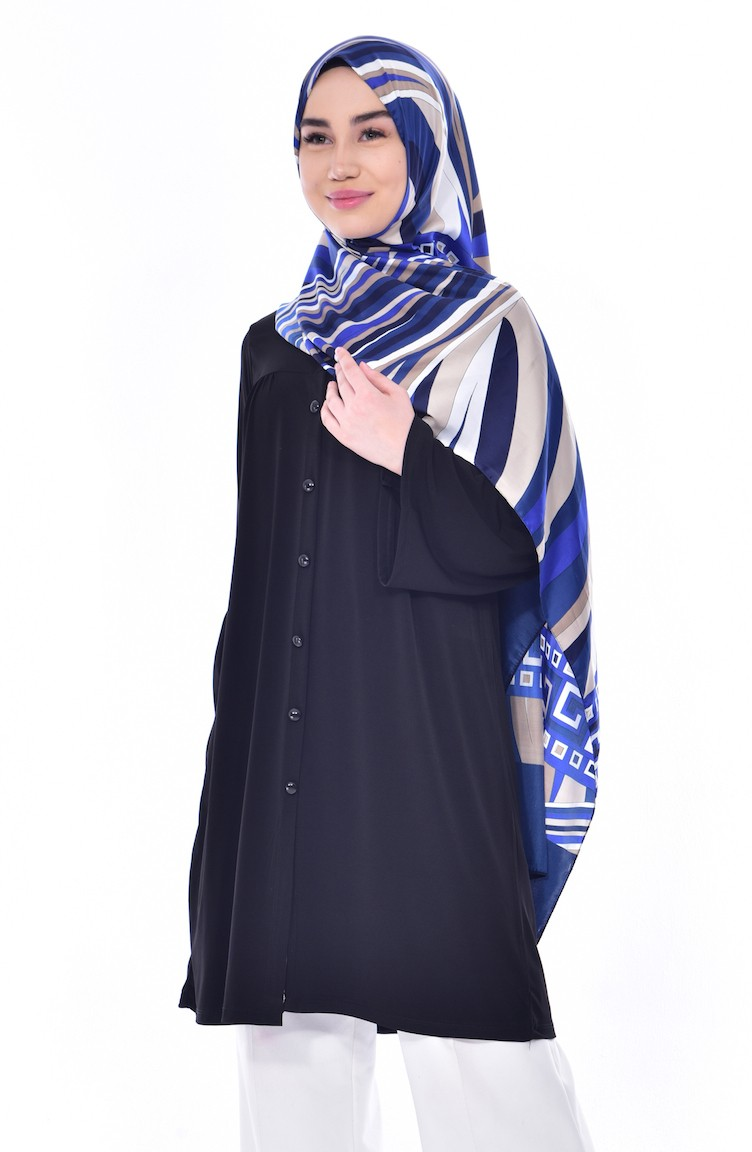 Black Tunic 3828 06 Shoes With Embroider Blue 12 Inchi