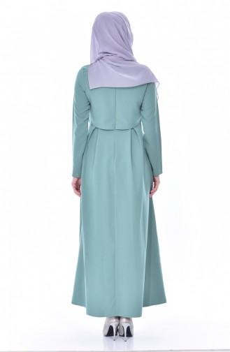 Green İslamitische Jurk 4055-02
