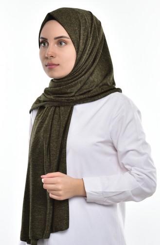 Sefamerve Sedef Schal aus Gekämmte Baumwoll SEDEFSF-118A Khaki 118A