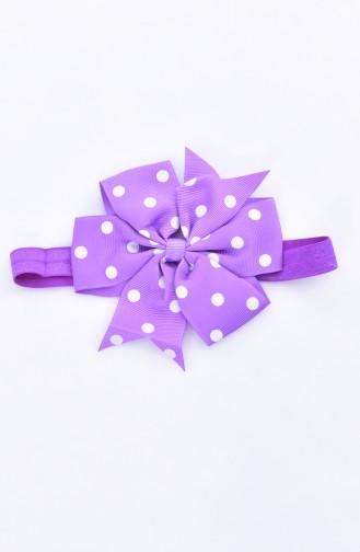Gepunktes Haarband 0082-03 Lila 0082-03