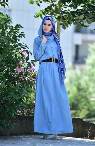 Hoodie Jeans Dress 1207-01 Blue 1207-01