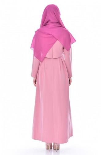 ZEN Pearls Pleated Dress 4055-03 Powder 4055-03