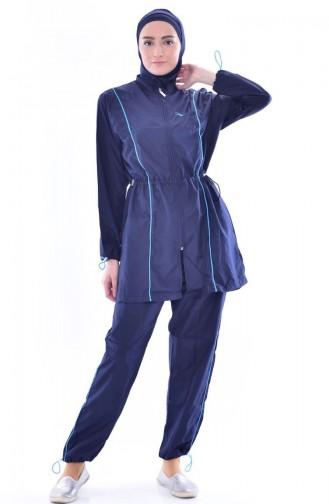 Maillot Hijab 2011-03 Bleu Marine 2011-03