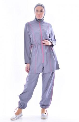 Hijab Badeanzug 2011-07 Grau 2011-07