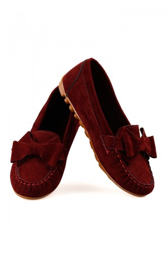 Claret red Woman Flat Shoe 0104-01