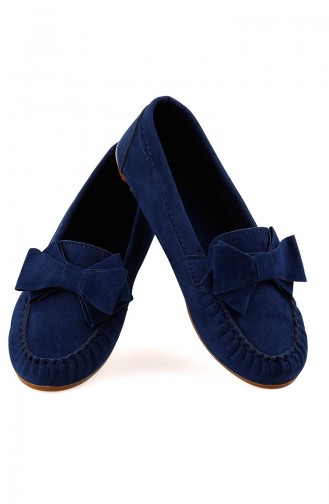 Navy Blue Woman Flat Shoe 0104-06