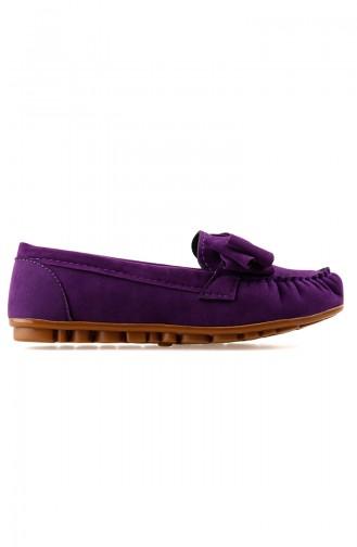 حذاء مسطح أرجواني 0104-03