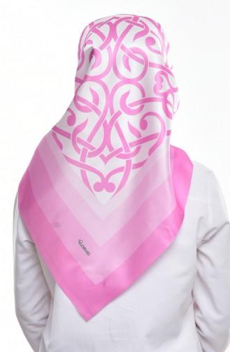 Gemustertes Taft Kopftuch 95165-04 Pink 04